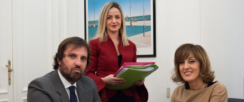 Avv. Luca Rapacciuolo, Avv. Gaia Bertolin, Sig.ra Stefania Manghisi